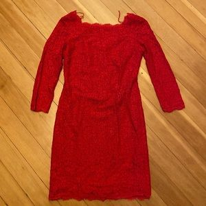 Adrianna Papell red mini dress